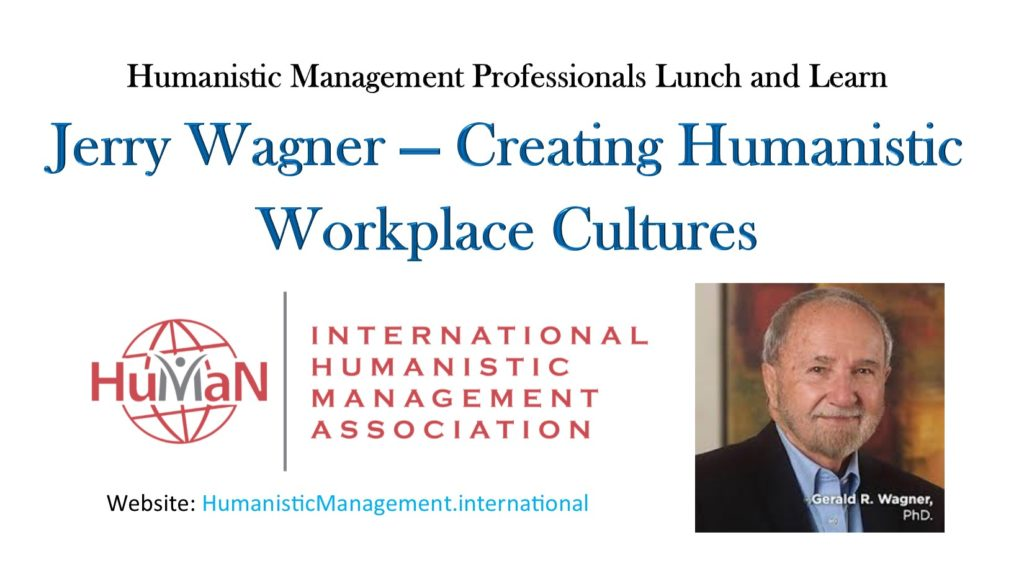 Jerry Wagner, Humanistic Professionals Lunch and Learn