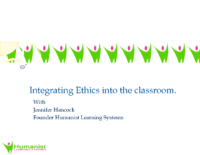 teaching humanistic ethics in the classroom by Jennifer Hancock