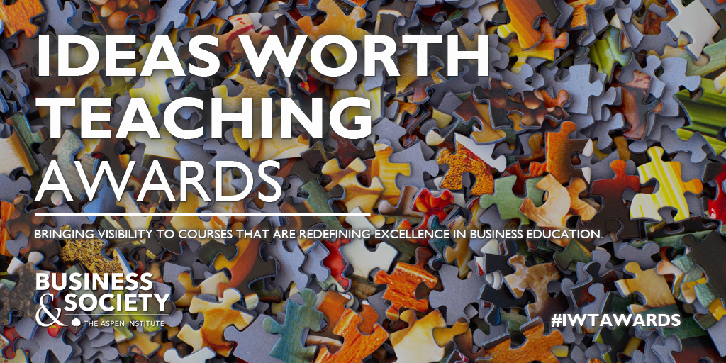 Aspen Institute Announced the 2020 Ideas Worth Teaching Award Winners!